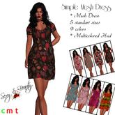 Free Gift - > Simple Mesh Dress