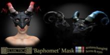 Eclectica 'Baphomet' Mask-Black