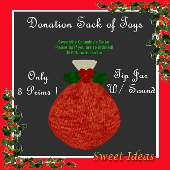 Second Life Marketplace Sweet Ideas Xmas Tip Jar Santa S Sack Holly