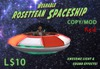 Wearable Animated Rosettean Spaceship - Red