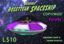 Wearable Animated Rosettean Spaceship - Purple