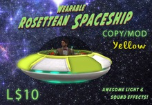 Wearable Animated Rosettean Spaceship - Yellow