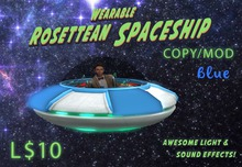 Wearable Animated Rosettean Spaceship - Blue