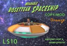 Wearable Animated Rosettean Spaceship - Orange