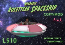 Wearable Animated Rosettean Spaceship - Pink