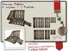 -W-[ Pallets ] 100% Mesh Blonde Wooden Factory stock