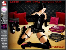 !FP! Little Dirty Latex Complete Outfit - Slink Physique TMP Maitreya KL* Lena Omega and Lolas appliers