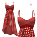 TD Spring Dress Red Dots (Pack)