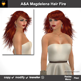 A&A Magdelena Hair Fire (Special Color). Long womens carefree hairstyle. Promo!