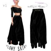 ::TY:: Long Flowy Skirt V1 all blk