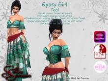 *Silken Surrender* Gypsy Girl, Teal