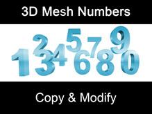 3D Mesh Numbers  Copy & Modify