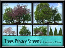 KHARGO TREE PRIVACY SCREENS - 6 DIFFERENT VERSIONS IN 3 SIZES