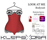 Klepsydra - Look at me Bodysuit Red - Appliers
