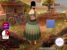 *Silken Surrender* Romani Girl, Blue TMP