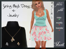 .::f  tiche petite::. Mesh Spring Dress flowers (incl.jewelry)