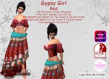 *Silken Surrender* Gypsy Girl, Red