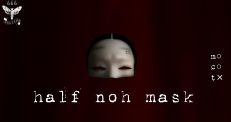 DELUSION* half noh mask with veil
