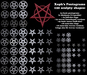 Sculpty Pentagrams / Pentacles - including woven shapes -- (pentagram / pentacle sculpties)