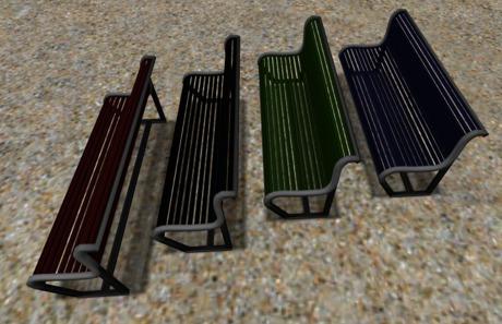 Outdoor mesh Street Bench