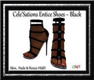 """Cele'Sations """"Entice"""" Shoes ~ Black Pk"""