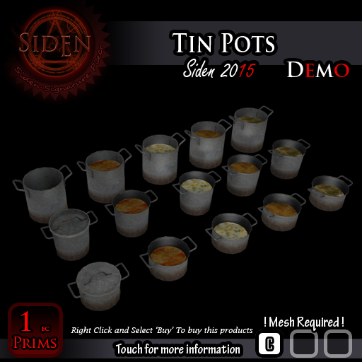 (Demo) Tin Pots (BOX)