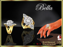 RJ Bella Mesh Ring in Gold