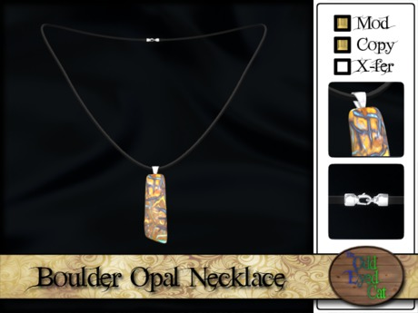 >^OeC^< Boulder Opal Necklace