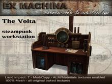 Steampunk desk workstation Volta