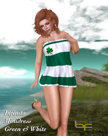 Babele Fashion :: Infinito Minidress Green & White