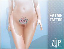 ::Zup:: Cupcake (Eat me) Tattoo / Maitreya Applier Included