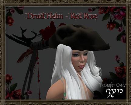 Zyn ~ Druid Helm - Red Rose