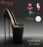 """N-core ENDLESS """"Fatpack"""" for High Feet (Rigged Mesh)"""