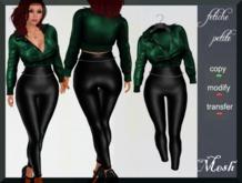 .::f  tiche petite::. Hot Biker  Girl Outfit / green(Mesh)