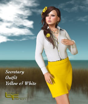 Babele Fashion :: Secretary Outfit Yellow and White