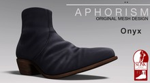 !APHORISM! Leather Ankle Boots Onyx