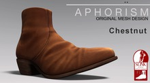 !APHORISM! Leather Ankle Boots Chestnut