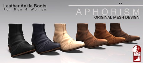 !APHORISM! Leather Ankle Boots Fatpack