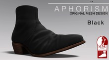 !APHORISM! Leather Ankle Boots Black