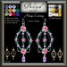 Beloved Jewelry : Adagio Earrings (Texture Change) Choice of Silver, Platinum, Gold, 12 Gem Colors. Amethyst