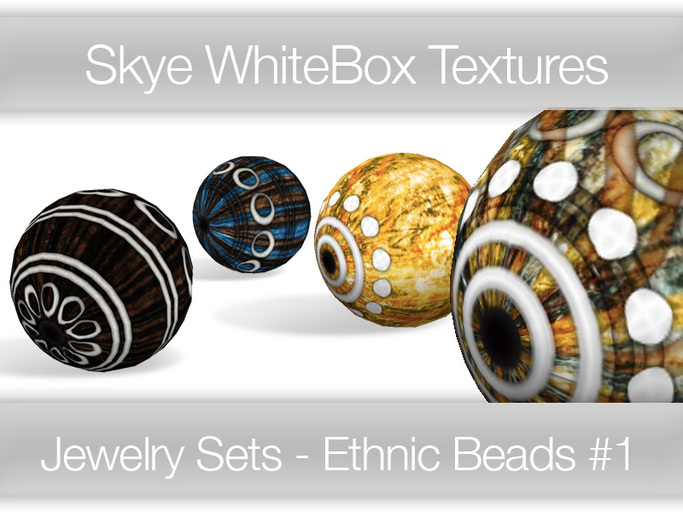 **Skye WhiteBox Textures  Big Value! 126 Ethnic Beads #1 -  Full Perms Textures