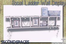Second Spaces - Social Ladder - wall display (bxd2)