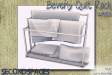 Second Spaces - Beverly Quilt Rack - white (bxd1)