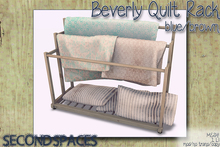 Second Spaces - Beverly Quilt Rack - blue/brown (bxd1)