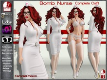 !FP! Bomb Nurse Complete Outfit - Classic Avatar Layers Slink Physique Maitreya Omega and Lolas appliers