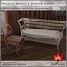 Trompe Loeil - Raleigh Bench & Chair + AO Maps [mesh]
