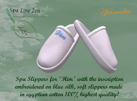 """Luxury slippers for """"Him"""" TRANSFER (boxed)"""