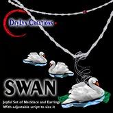 SWAN Mesh Necklace/Earrings