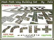 Mesh Path Way Building Set 6 Parts+10 single stones in 7 textur