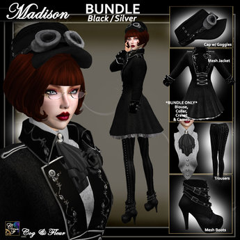 C&F Madison Military BUNDLE - Black/Silver